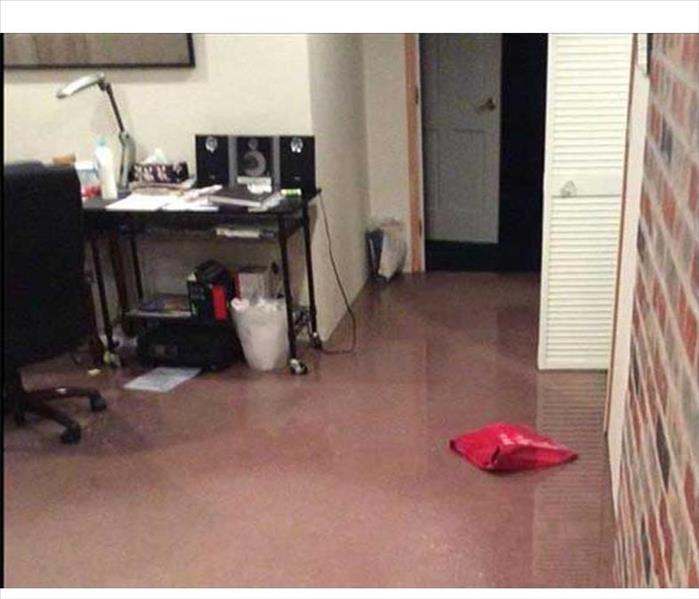 Home Office Stymied by Water Damage--Tarpon Springs Before