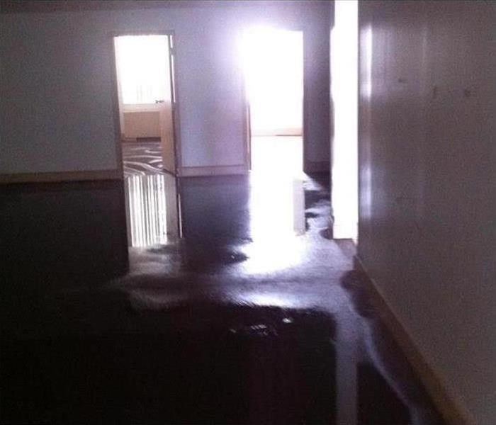 Commercial Water Damage – Tarpon Springs Office Before